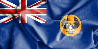 Flag of South Australia. 3d Rendered Flag of South Australia Stock Photography