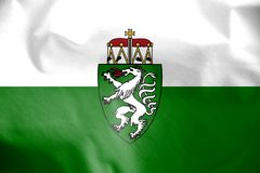 Flag of Styria, Austria. 3d Rendered Flag of Styria, Austria Stock Photography