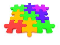3D rendered  graphic of a Jigsaw Puzzle Royalty Free Stock Images