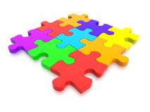 3D rendered  graphic of a Jigsaw Puzzle Royalty Free Stock Photo