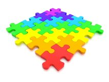 3D rendered  graphic of a Jigsaw Puzzle Stock Photography