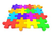 3D rendered  graphic of a Jigsaw Puzzle Royalty Free Stock Photos