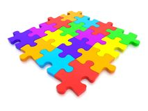 3D rendered  graphic of a Jigsaw Puzzle Stock Photos