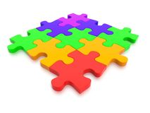 3D rendered  graphic of a Jigsaw Puzzle Stock Photo