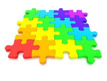 3D rendered  graphic of a Jigsaw Puzzle Royalty Free Stock Photography