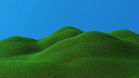 3D rendered green hills Stock Image