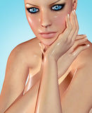 3d rendered illustration af a beautiful woman Stock Photo