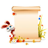 Brown easter bunny with big sign Stock Images