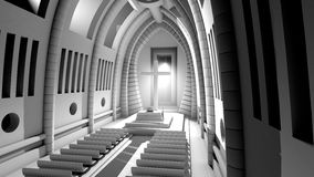3D rendered Illustration of a Cathedral Interior Stock Photo