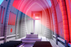 3D rendered Illustration of a Cathedral Interior Royalty Free Stock Image