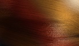 3D rendered illustration of colorful female hair with gradient palette from black, red to blond Royalty Free Stock Image