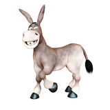3d rendered illustration of Donkey smiling Royalty Free Stock Photography
