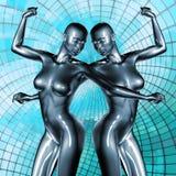 3d rendered illustration of female body Stock Images