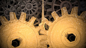 3d rendered illustration of filling of gears by motor oil.  Royalty Free Stock Photography