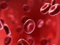 Human blood cells. 3d rendered illustration of human blood cells stock illustration