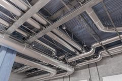 3D rendered illustration of HVAC system and pipes.  Stock Images