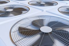 3D rendered illustration of HVAC units heating, ventilation and air conditioning Royalty Free Stock Image