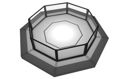 3D Rendered Illustration of an MMA fighting cage arena. stock photo