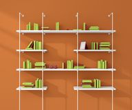 3d rendered illustration of a modern shelves. Royalty Free Stock Image