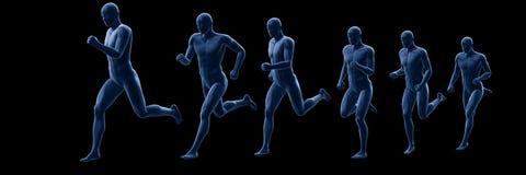A running mans body stock illustration