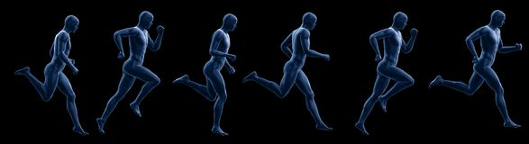 A running mans vector illustration