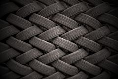 3D rendered illustration of stacked car tires Royalty Free Stock Images