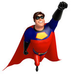 3D Rendered illustration of superhero  flying pose Stock Image