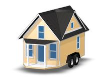 3D Rendered Illustration of a tiny house on a trailer. Royalty Free Stock Image