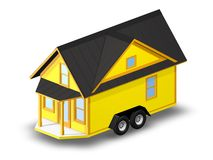 3D Rendered Illustration of a tiny house on a trailer. Stock Images