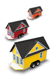 3D Rendered  Illustration of a tiny house on a trailer. Royalty Free Stock Photography