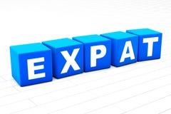 Expat word illustration. 3D rendered illustration of the word Expat.r stock illustration