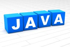 3D rendered illustration of the word Java stock photo