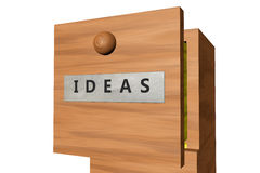 Drawer with ideas documents Stock Image