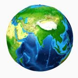 Planet earth. isolated on white background Royalty Free Stock Photography