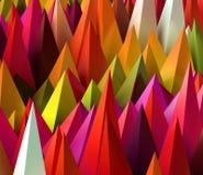 3D rendered image of sharp random pyramids as abstract futuristi. Sharp random pyramids as abstract futuristic background. 3D rendered image Royalty Free Stock Photo
