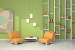 3d rendered interior Royalty Free Stock Image