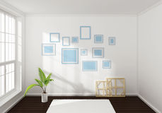 3d rendered interior composition Stock Image