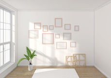 3d rendered interior composition Stock Images