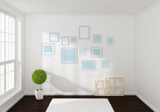 3d rendered interior composition Royalty Free Stock Images