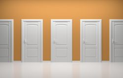 3d rendered interior composition. 3d rendered interior composition with white doors Stock Photos