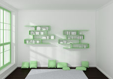 3d rendered interior Stock Images