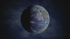 3D rendered looping animation of rotating Earth stock video