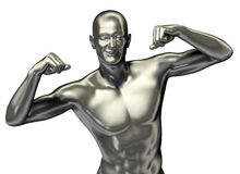 3d rendered man illustration with expression Royalty Free Stock Photo