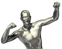 3d rendered man illustration with expression Royalty Free Stock Photography