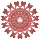 3d rendered mandala ornament on white background. Red graphic ornament on white background Royalty Free Stock Photos