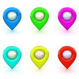 3d Rendered Map Icon Selection Stock Images