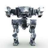 3d rendered mech isolated background. High quality 3d render of battle robot Stock Photo