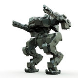 3d rendered mech isolated background. High quality 3d render of battle robot Stock Photography