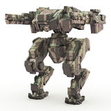 3d rendered mech isolated background Stock Image