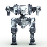 3d rendered mech isolated background. High quality 3d render of battle robot Royalty Free Stock Photo